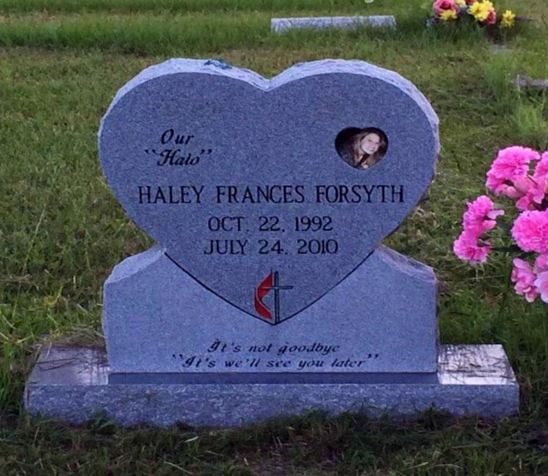 Haley Forsyth headstone