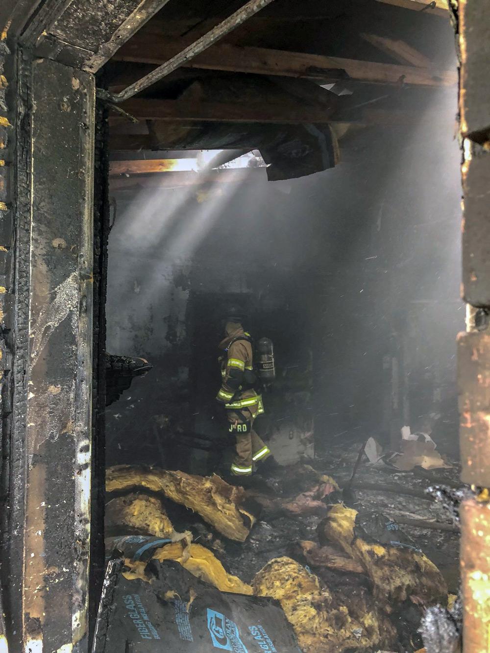 Inside Hidden Hills house fire JFRD photo