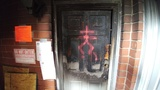 Strange symbols spray-painted on San Marco apartment building after fire