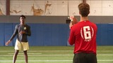 QB's Carson Beck and Jeff Sims could soon go from friends and workout&hellip&#x3b;