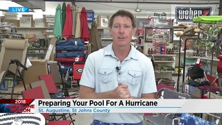 Prepping your pool for a hurricane
