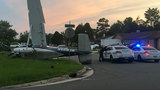 Pilot walks away after plane crashes in front yard