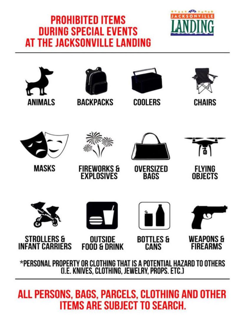 Landing prohibited items