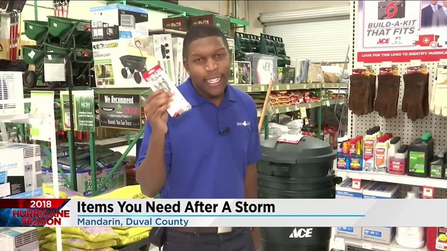 Items you may need during a storm