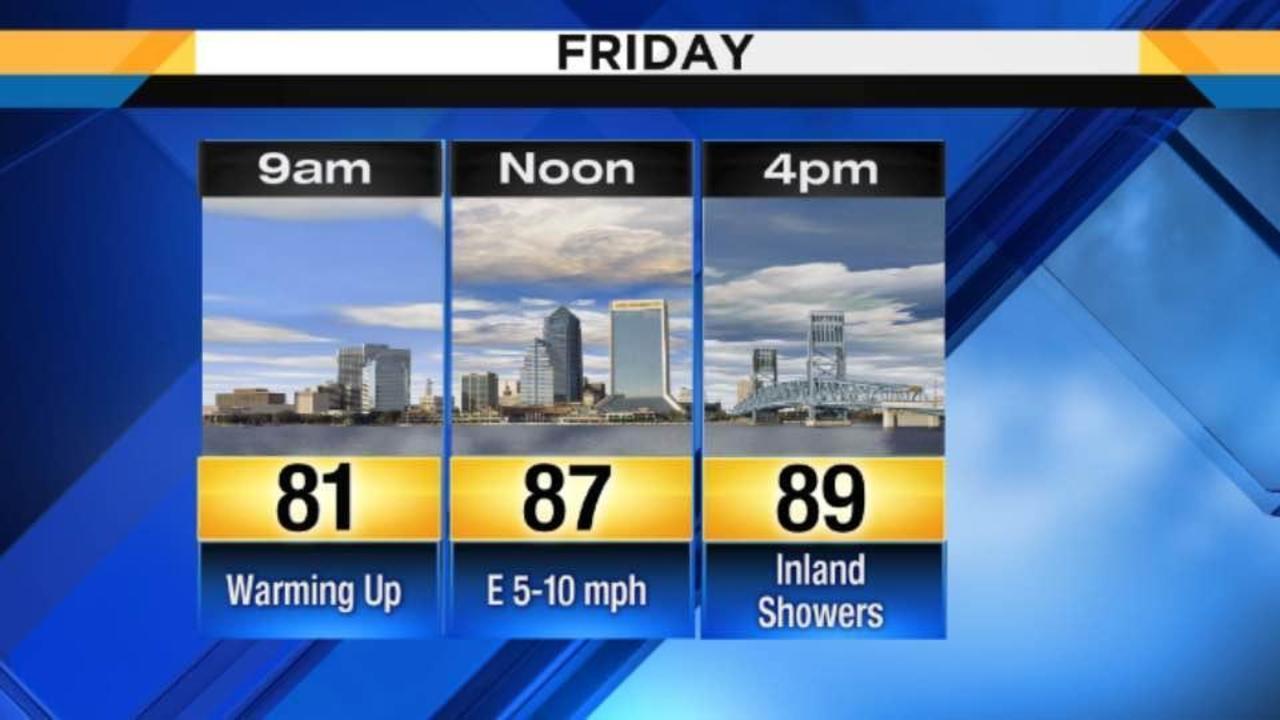 Thursday Weather Forecast Isolated Coastal Showers