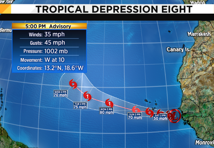 Tropical Storm Isaac could potentially affect BVI as hurricane in days