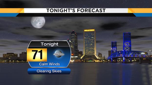 Tonight 720 Weather Forecast Isolated Coastal Showers
