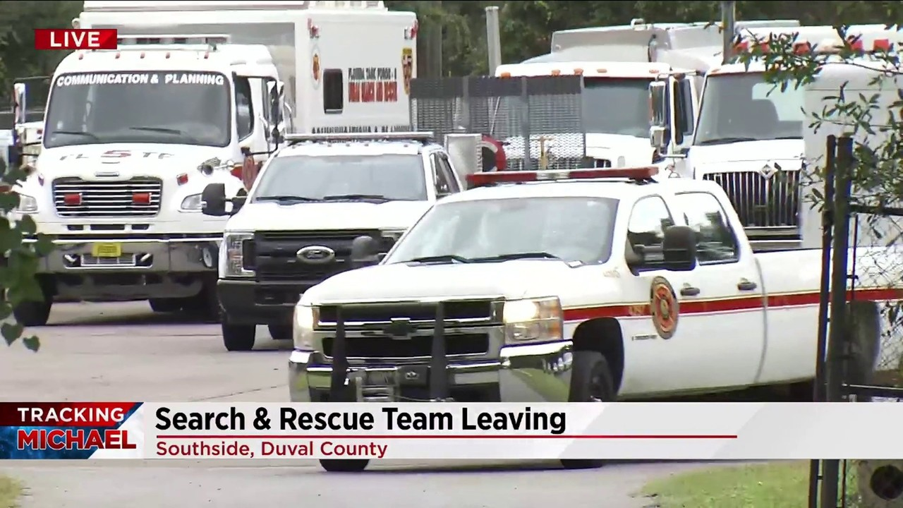 JFRD Search and Rescue team deploys ahead of Hurricane Michael