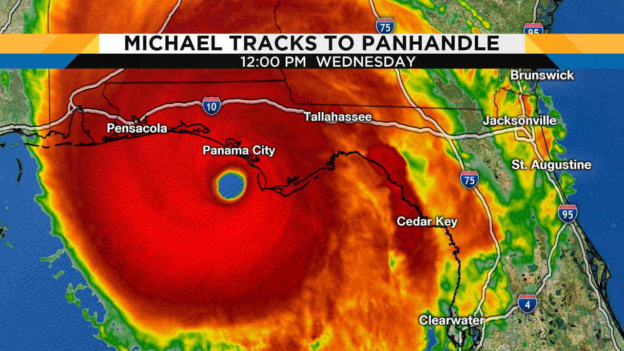 Hurricane Michael Closes In On Landfall Along Florida Panhandle