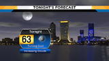 Cool overnight, cloudy with coastal showers Tuesday