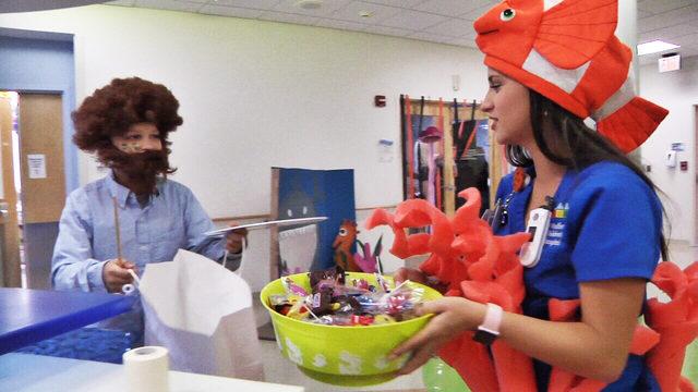 Charity brings Halloween spirit to Wolfson Children's Hospital