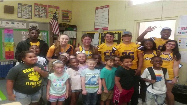 Columbia High Tigers helping the cubs as often as they can