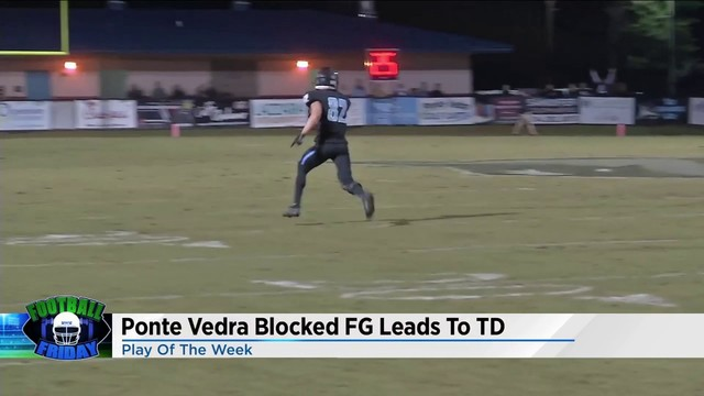 Watch Ponte Vedra's Pete Merlini block field goal