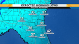 Temperatures drop tonight, chilly with patchy inland frost Friday morning