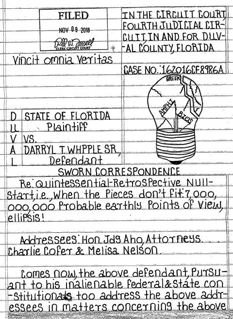 Whipple letter
