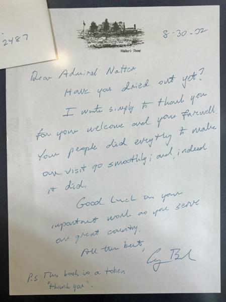 George HW Bush's letter to Admiral Natter
