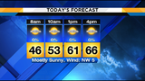 Mild dry start to the work week ends wet and chilly