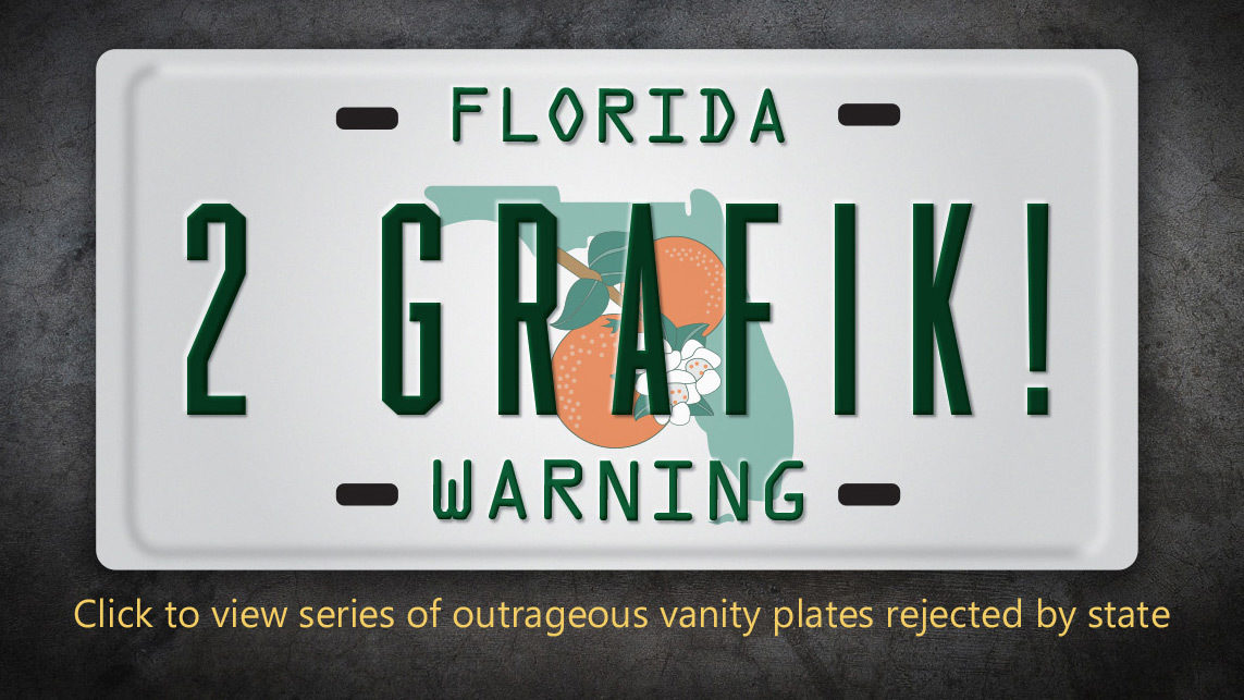 Florida Personalized License Plates >> Denied Many Customized License Plate Requests Rejected