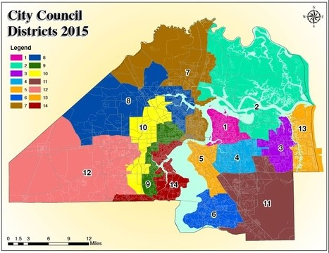 Jacksonville City Council district map