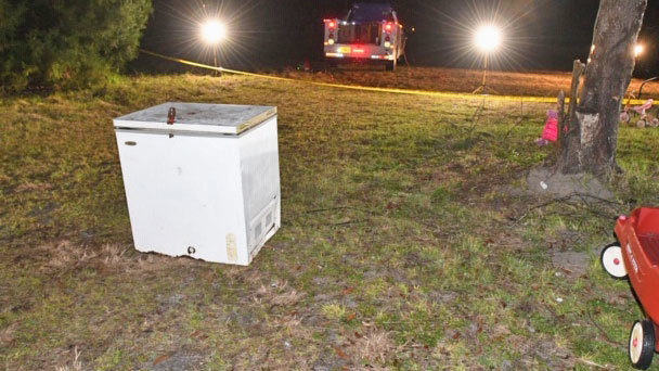 Chest freezer photo from Suwannee County Sheriff's Office