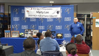 First Coast football coach Marty Lee inducted into FACA Hall Of Fame