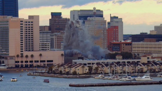 Drone video: 2 more views of City Hall implosion