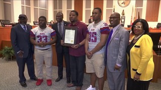 City Council honors Raines football team for winning back-to-back titles