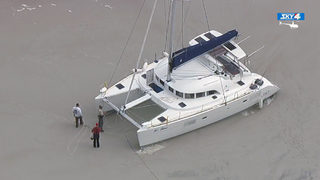 5 helped off grounded catamaran near St. Augustine inlet