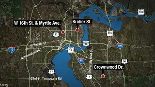 1 killed, 3 wounded within hours in 3 Jacksonville shootings