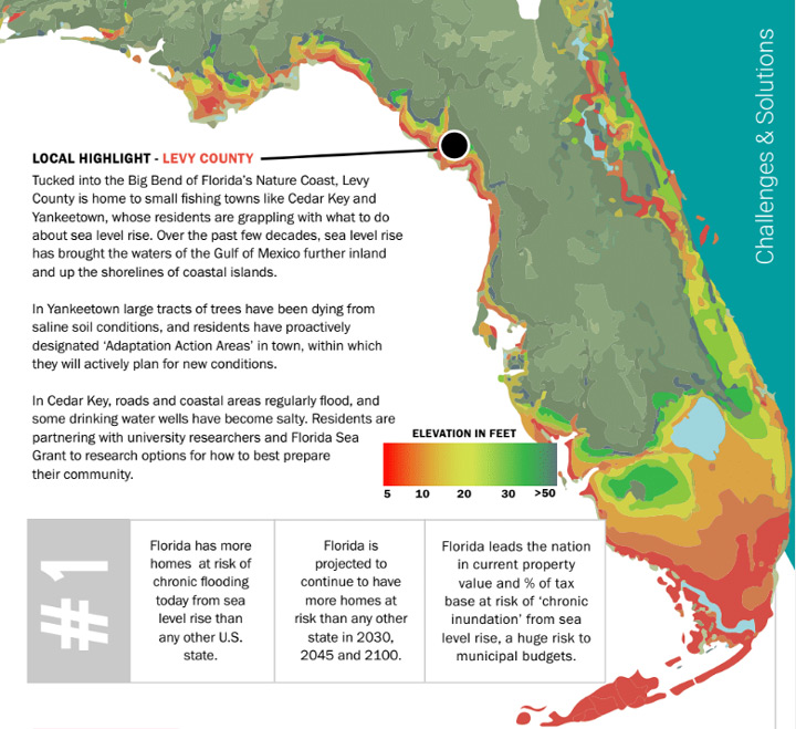 Florida coastal at-risk map