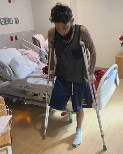 Lopez at hospital