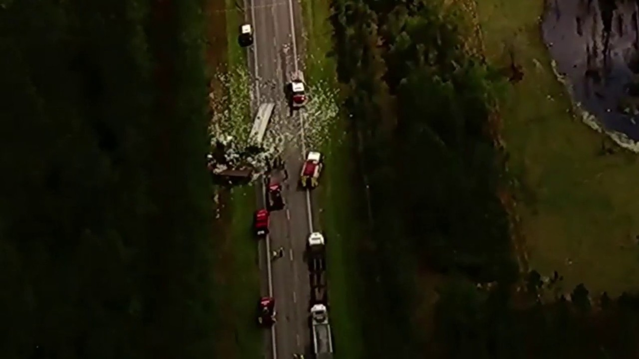Troopers ID 3 men killed in head-on truck crash south of San