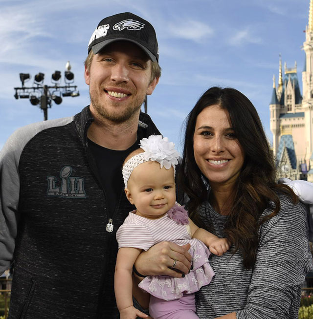 Nick Foles and family at Disney World, Getty Photo