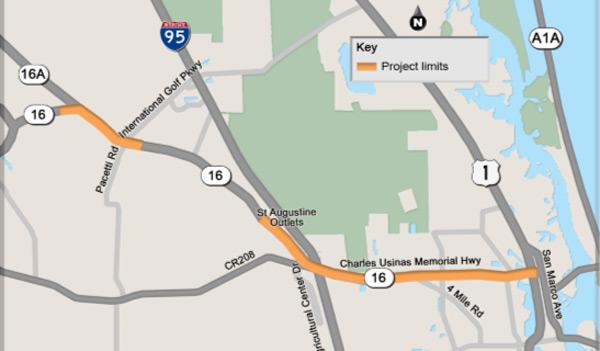 FDOT SR 16 project map