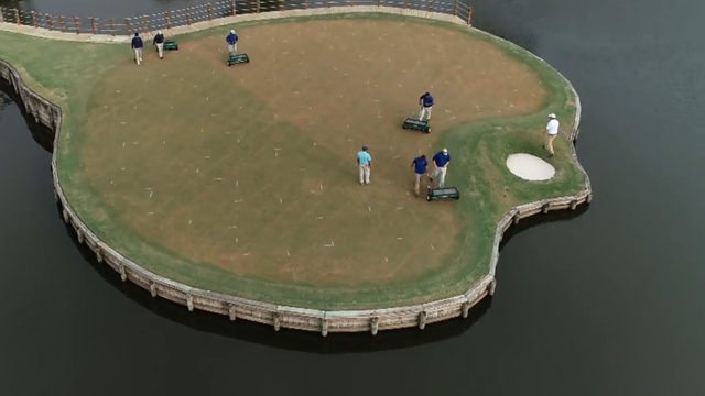 A chilly day for pros at The Players to wrap up Round 3