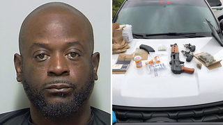 Deputies: Ex-con from Jacksonville busted with guns, drugs