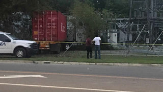 Tractor-trailer hits JEA substation near Paxon neighborhood