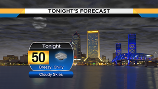 Windy, chilly, overcast night, warmer weather by the weekend