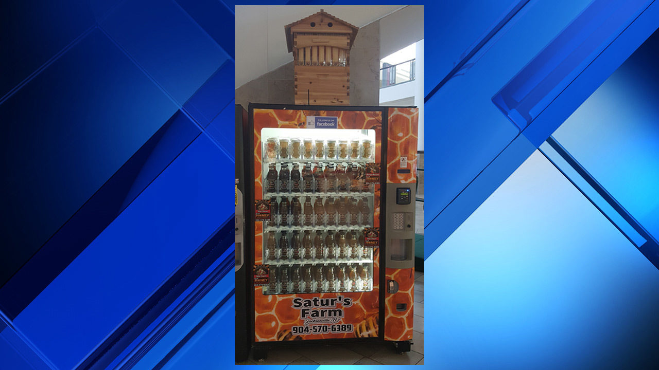 Vending machine at Avenues Mall dispenses honey from