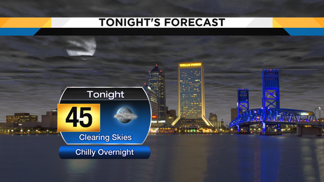 Clearing and chilly tonight, Mild & sunny days ahead