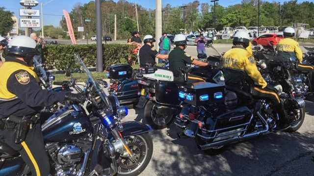Memorial ride for fallen deputies attracts hundreds of bikers