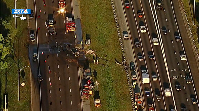 I-295 southbound at Buckman Bridge reopens after fiery crash