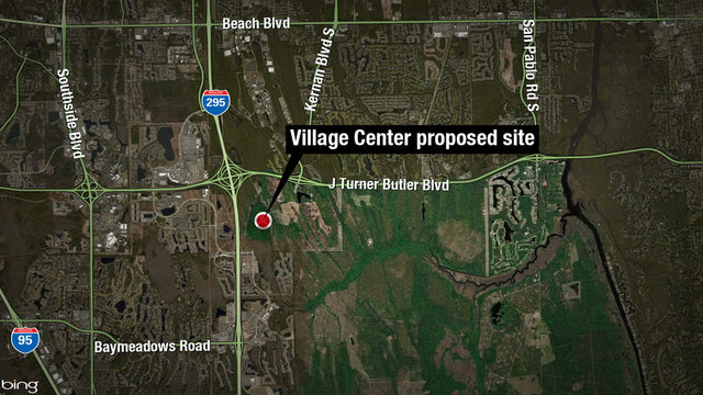 Map of proposed Village Center site