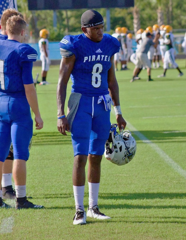 Curtis Gray on football sidelines