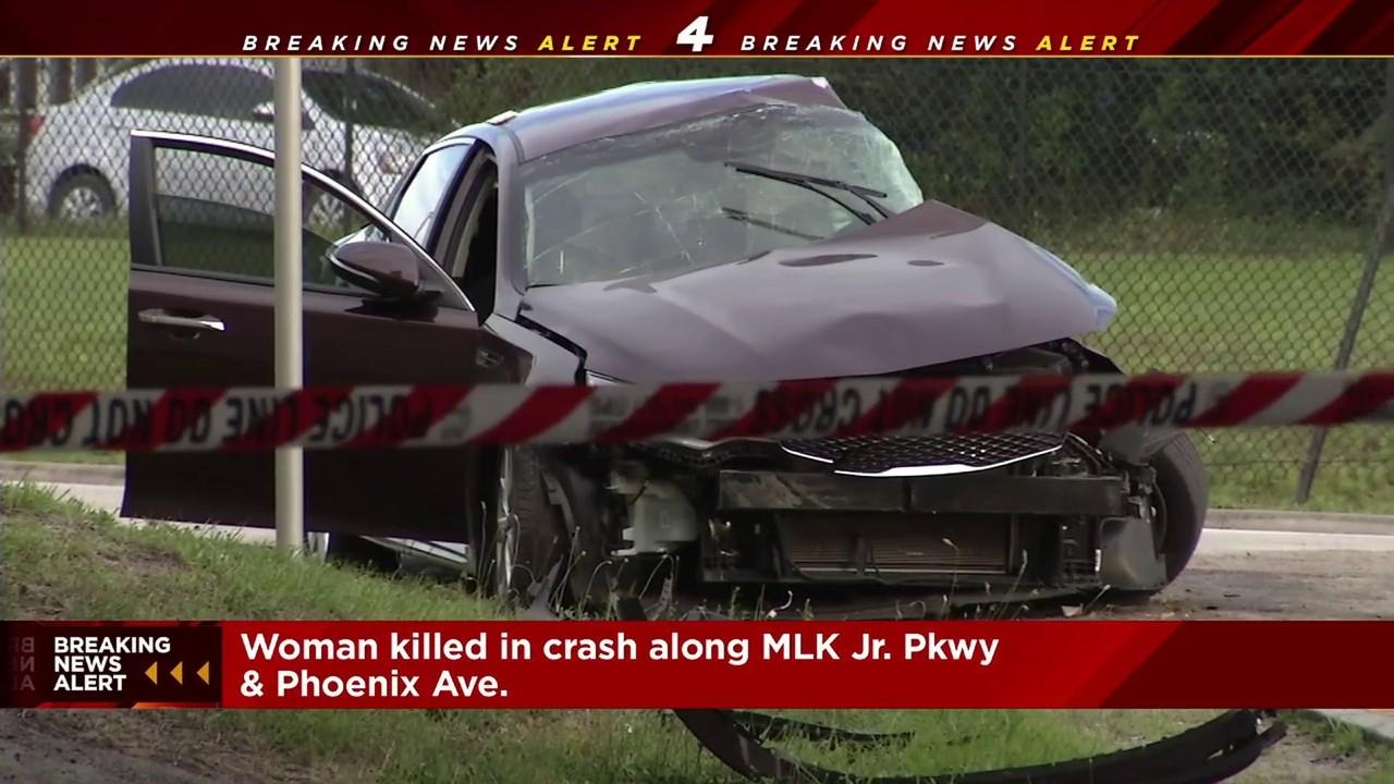 JFRD: Woman killed in crash at MLK Parkway & Phoenix Avenue