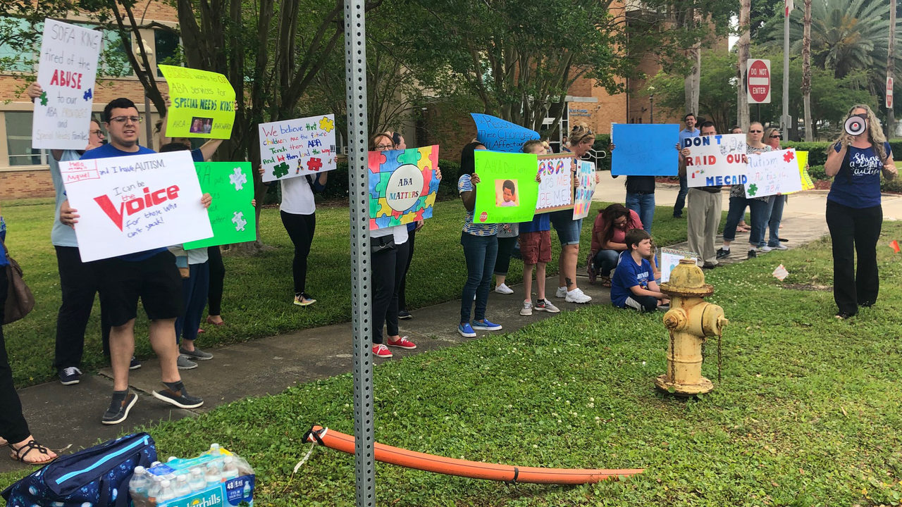 Parents of children with autism rally for transparency from state