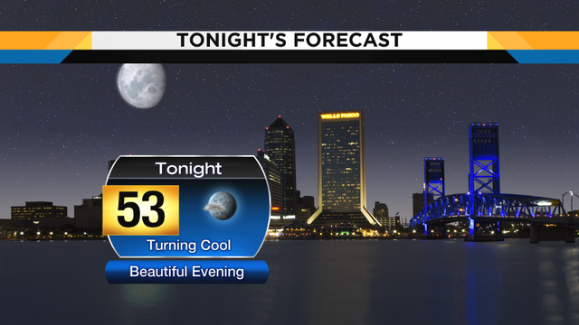 Beautiful evening turns cool for Jacksonville's weather forecast