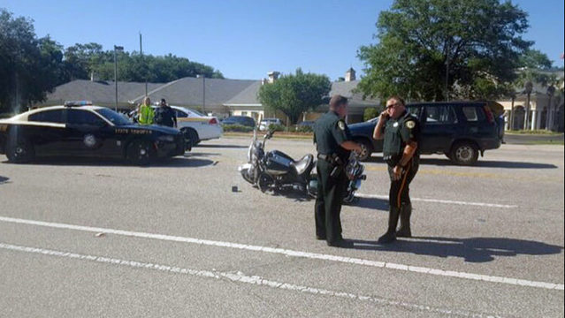 Clay County motorcycle deputy injured in crash