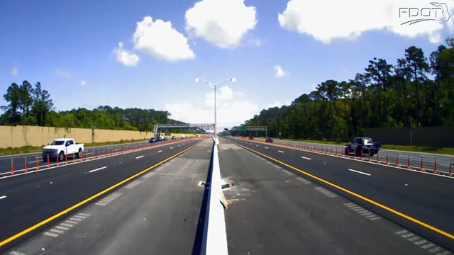 Major Milestone: Markers installed to separate I-295 express lanes