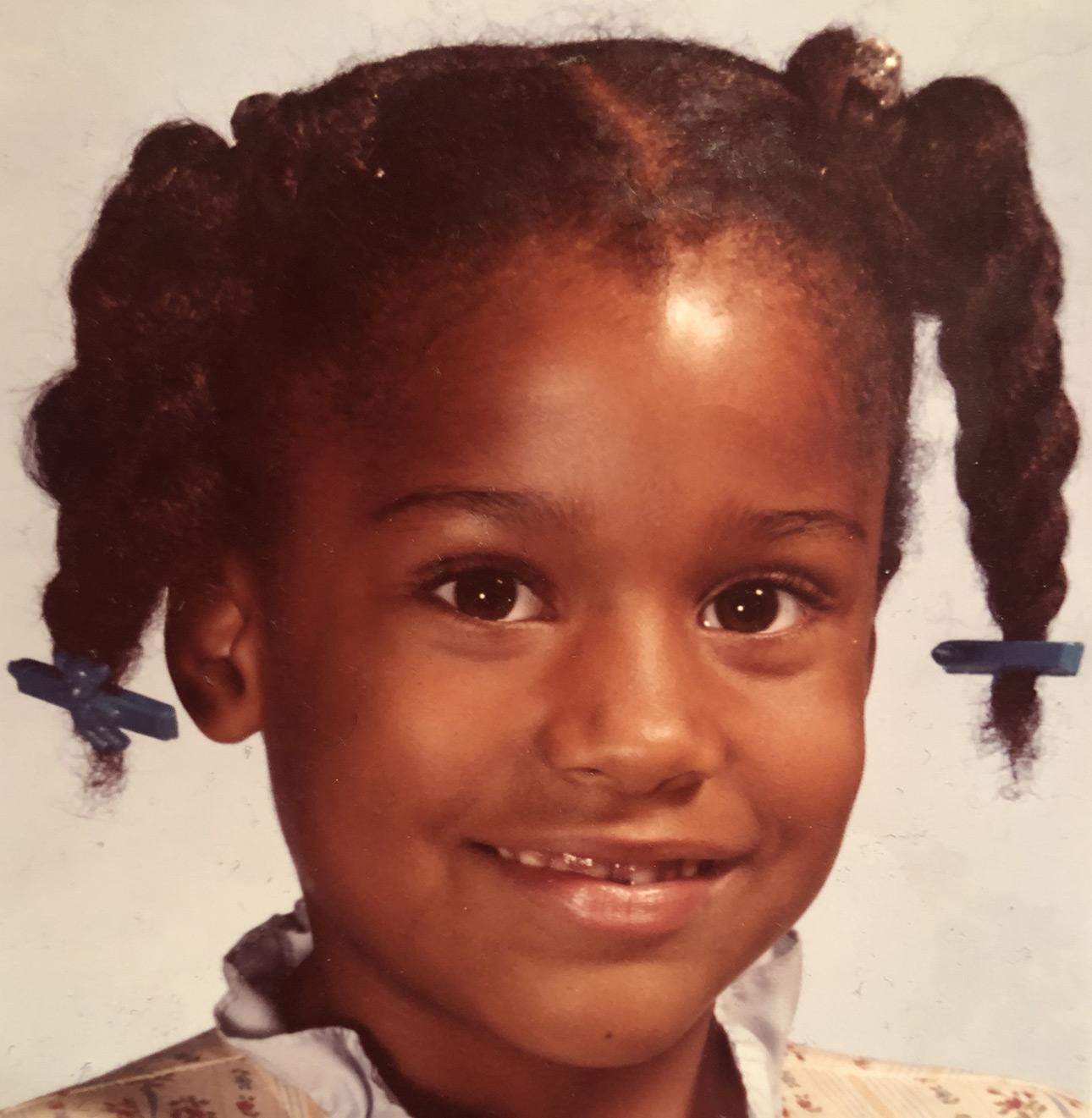 Melanie as a little girl